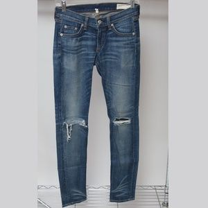Rag & Bone Distressed Skinny Jeans Size 25